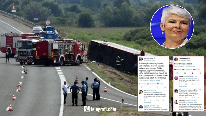 """Ish-kryeministrja kroate solidarizohet me familjet e viktimave të aksidentit, profili i saj """"vërshohet"""" nga komentet negative të serbëve"""