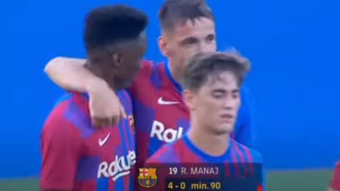 Rey Manaj shkëlqen me Barcelonën, 3 gola në 45 minuta me ekipin e parë
