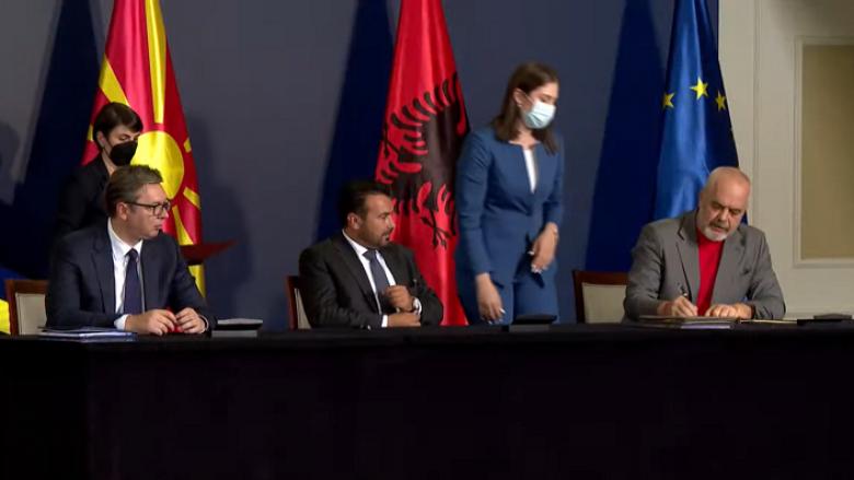Nënshkruhet mini-shengeni mes Shqipërisë, Maqedonisë dhe Serbisë