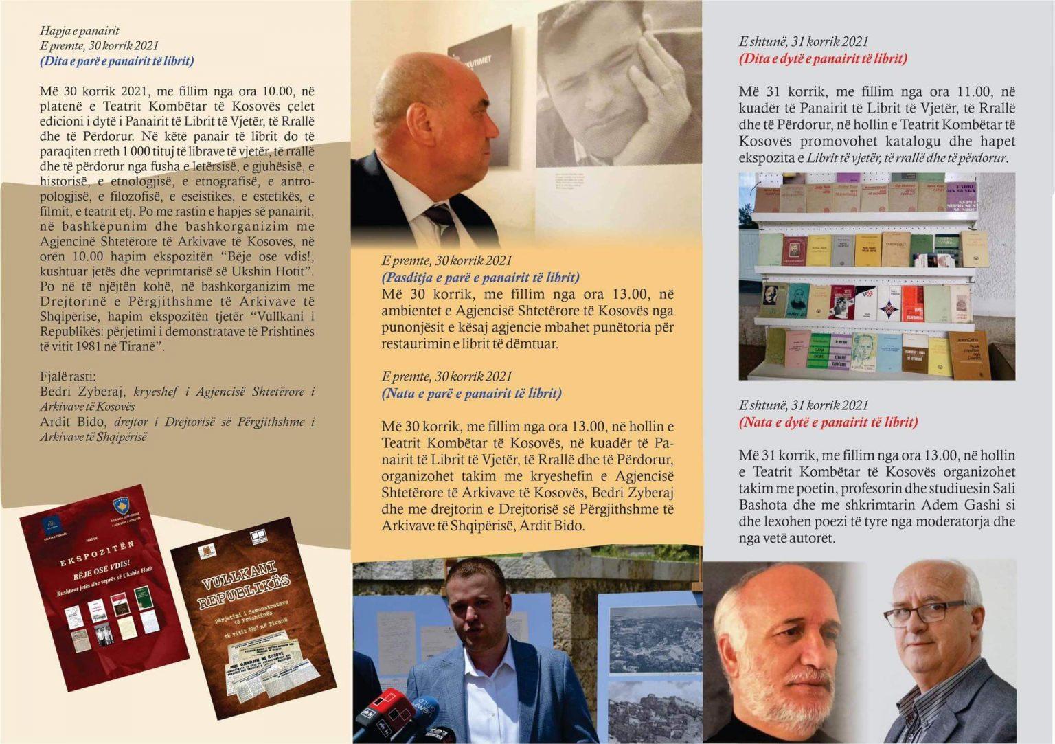 Nesër Panairi i Librit të Vjetër, ekspozita kushtuar jetës së Ukshin Hotit dhe ngjarjeve të vitit 1981 në Kosovë