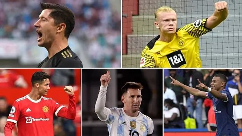 Gara midis pesë 'makinave të golave' në vitit 2021 – Kush do ta fitojë Këpucën e Artë?