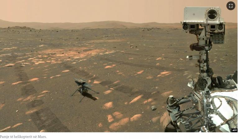 Helikopteri i NASA-s kryen fluturimin e tretë në Mars