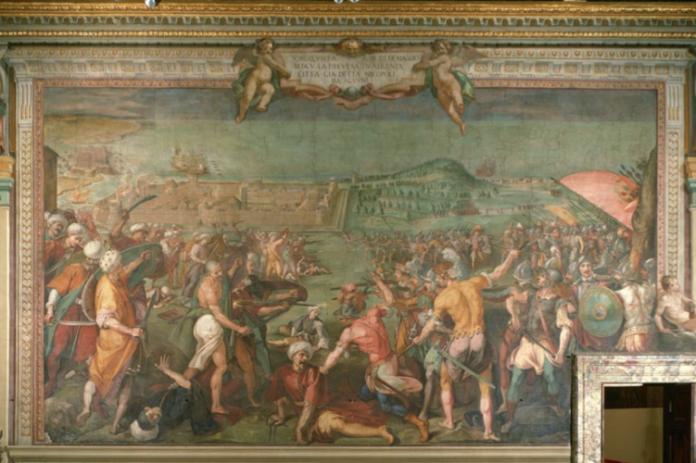 Preveza në muralen e Pallatit Pitti në Firenze…
